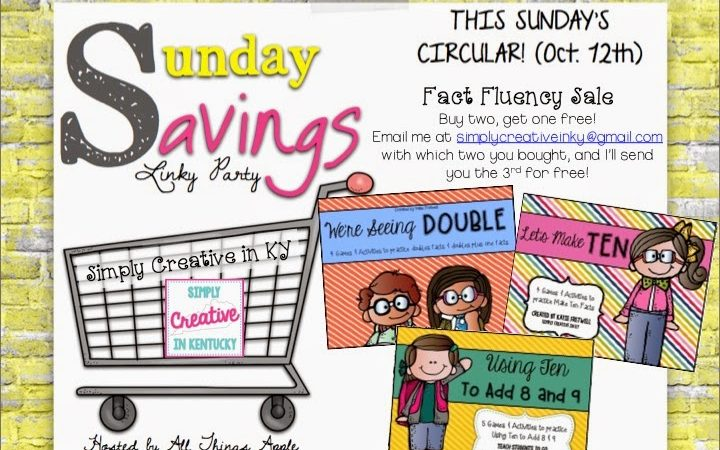 Sunday Savings with Fact Fluency Games!
