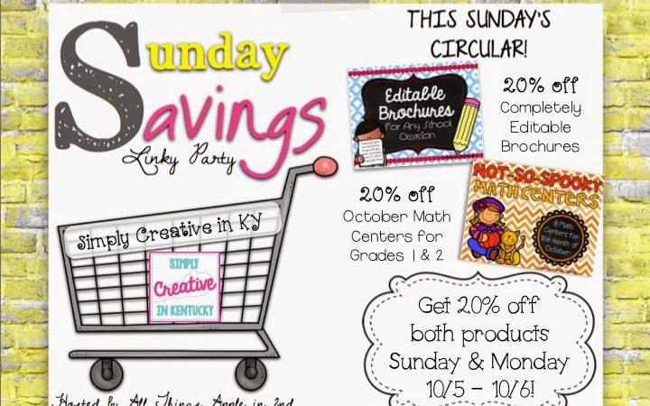 Sunday Savings Linky!
