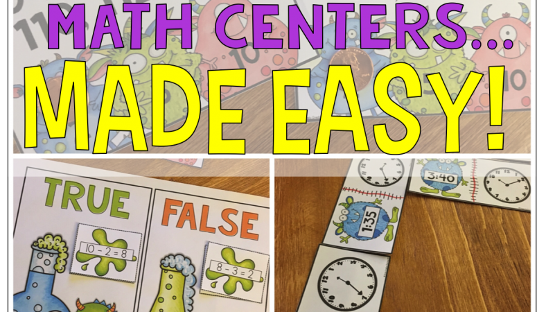 Differentiate Math Centers in 1st & 2nd Grade