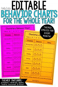 behavior charts for the whole year