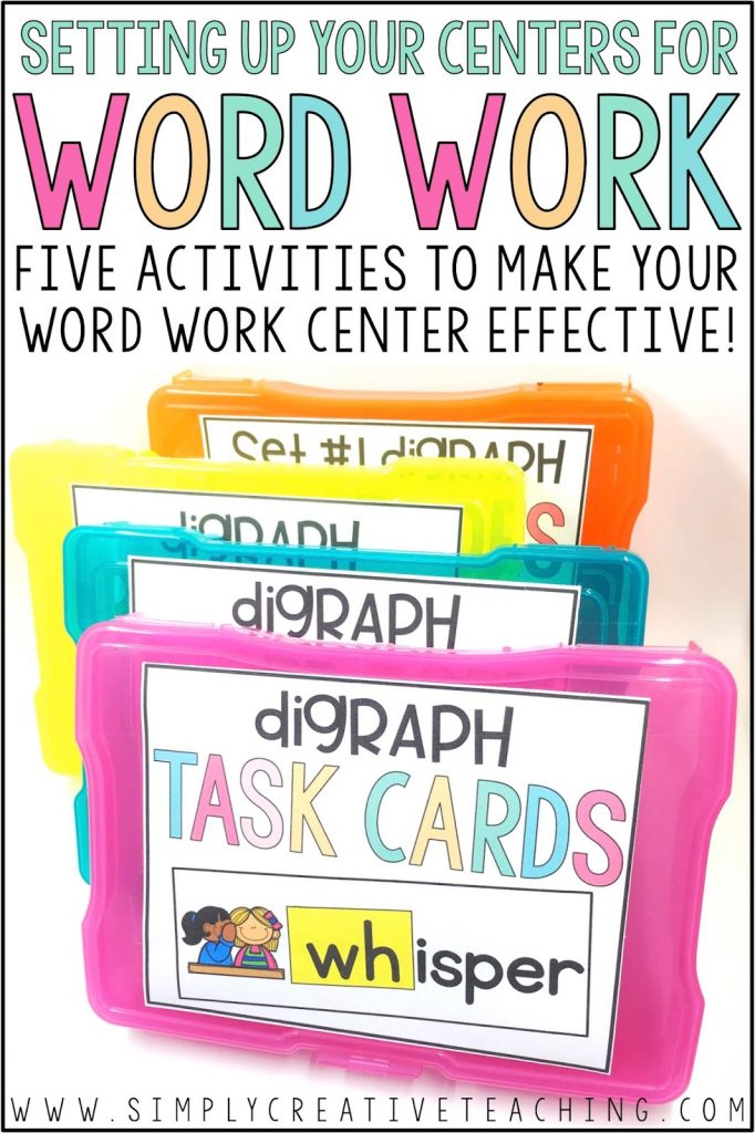 word work task boxes