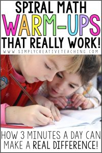 These spiral math review and math warm ups for 2nd grade are essential for the second grade classroom. Each day, students will complete a small set of problems that work on number sense, place values, equations, and more. They are perfect for test prep, and teachers love that they are only one page a week. You can use these as worksheets, homework, or morning work. They are a fun, quick way to review Common Core math skills and standards!