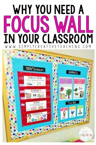 why you need a focus wall in your classroom