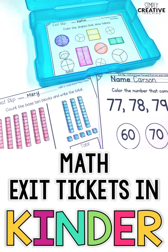 Use these math assessments for quick, formative assessment for your kindergarten, first grade, and 2nd grade students. Teachers will love how easy it is to assess small group or whole group learning with these tools. They follow the Common Core standards and are easy to add to any of your math activities or lesson plans. These exit slips and exit tickets assess the basic number sense and problem solving skills for all standards. They are great to use for test prep in the classroom!