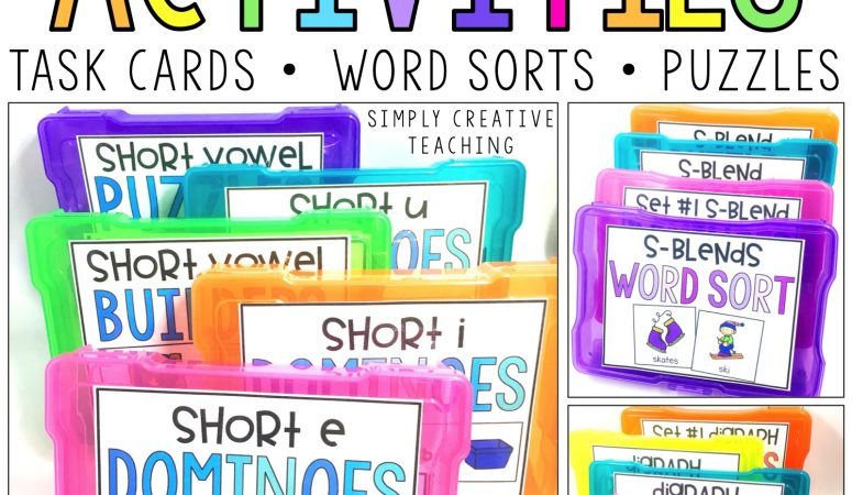 Word Work Centers & Phonics Instruction
