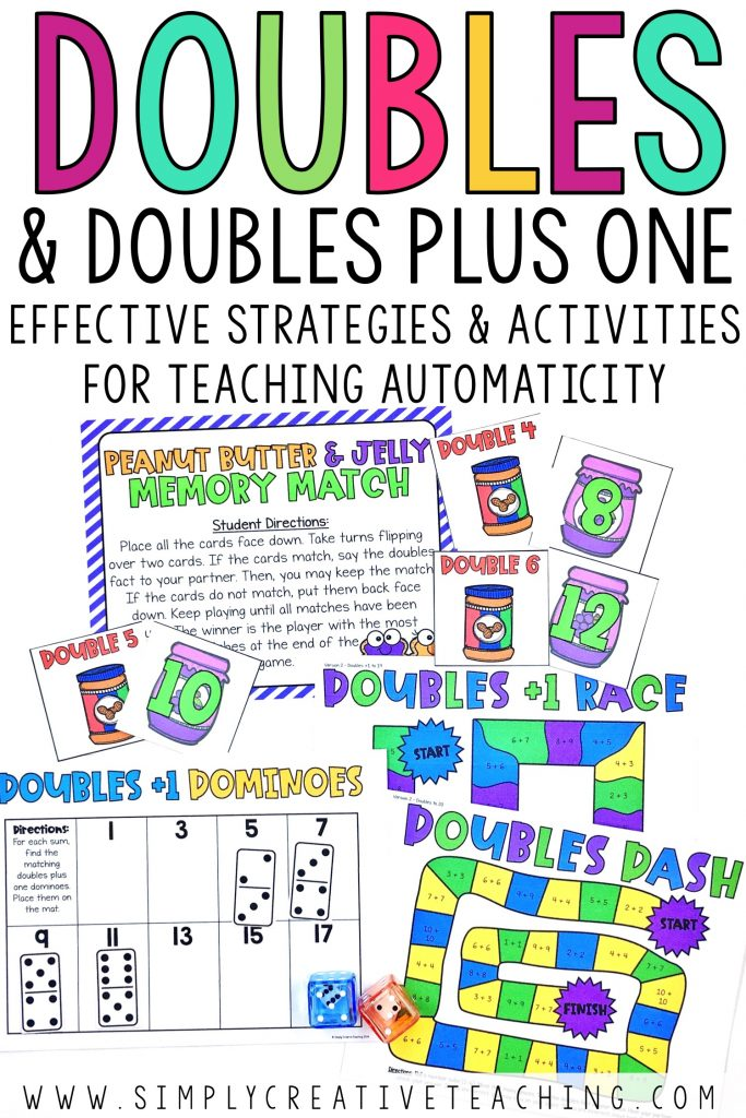 Doubles and doubles plus one centers