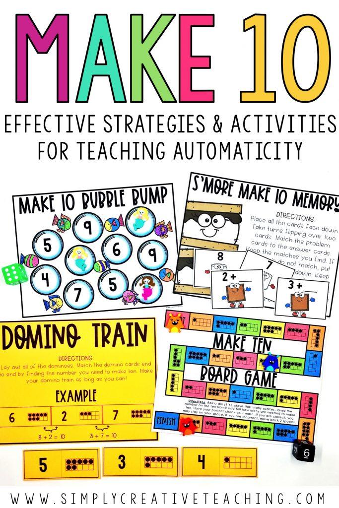 Ways to make ten games and activities