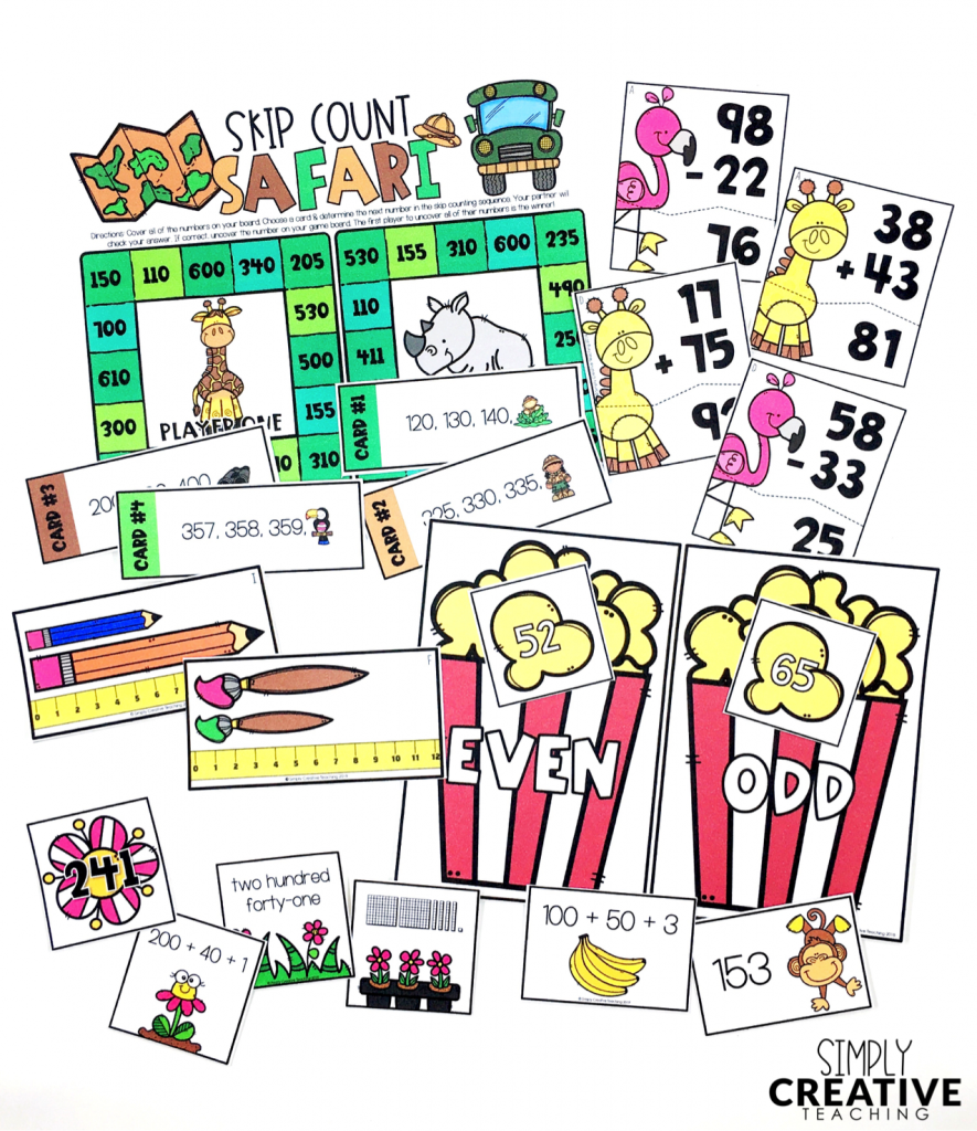 These are examples of 2nd grade math centers you can use during your  rotations.