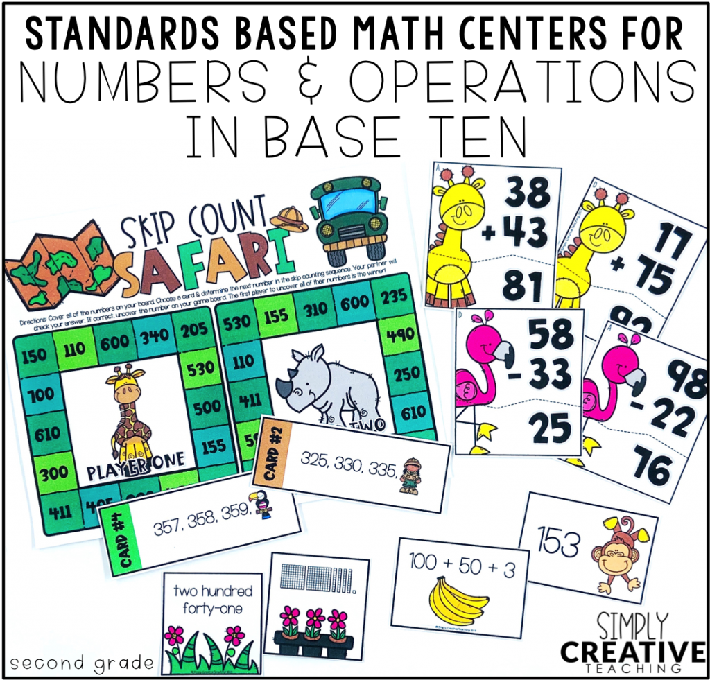 These are examples of place value math centers and games.