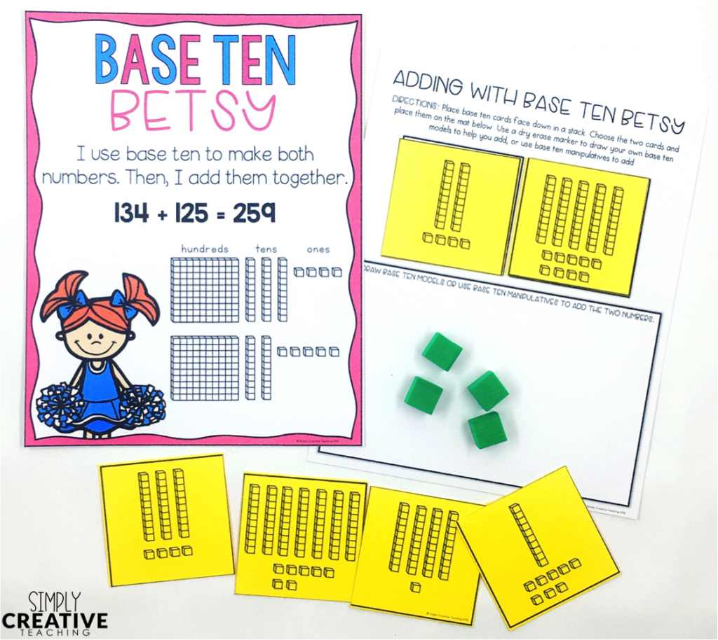 Base ten poster with math game