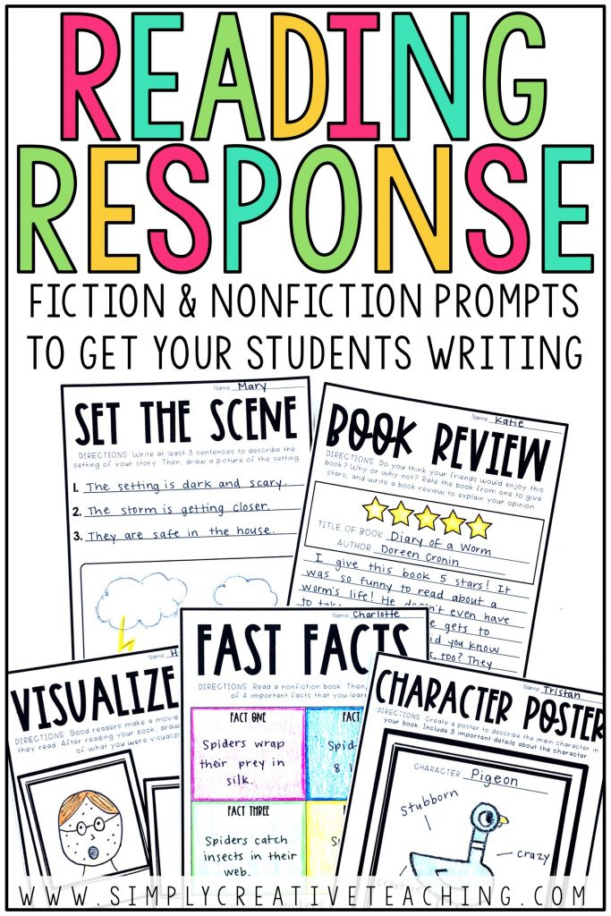 Fiction and nonfiction prompts to get your students writing.