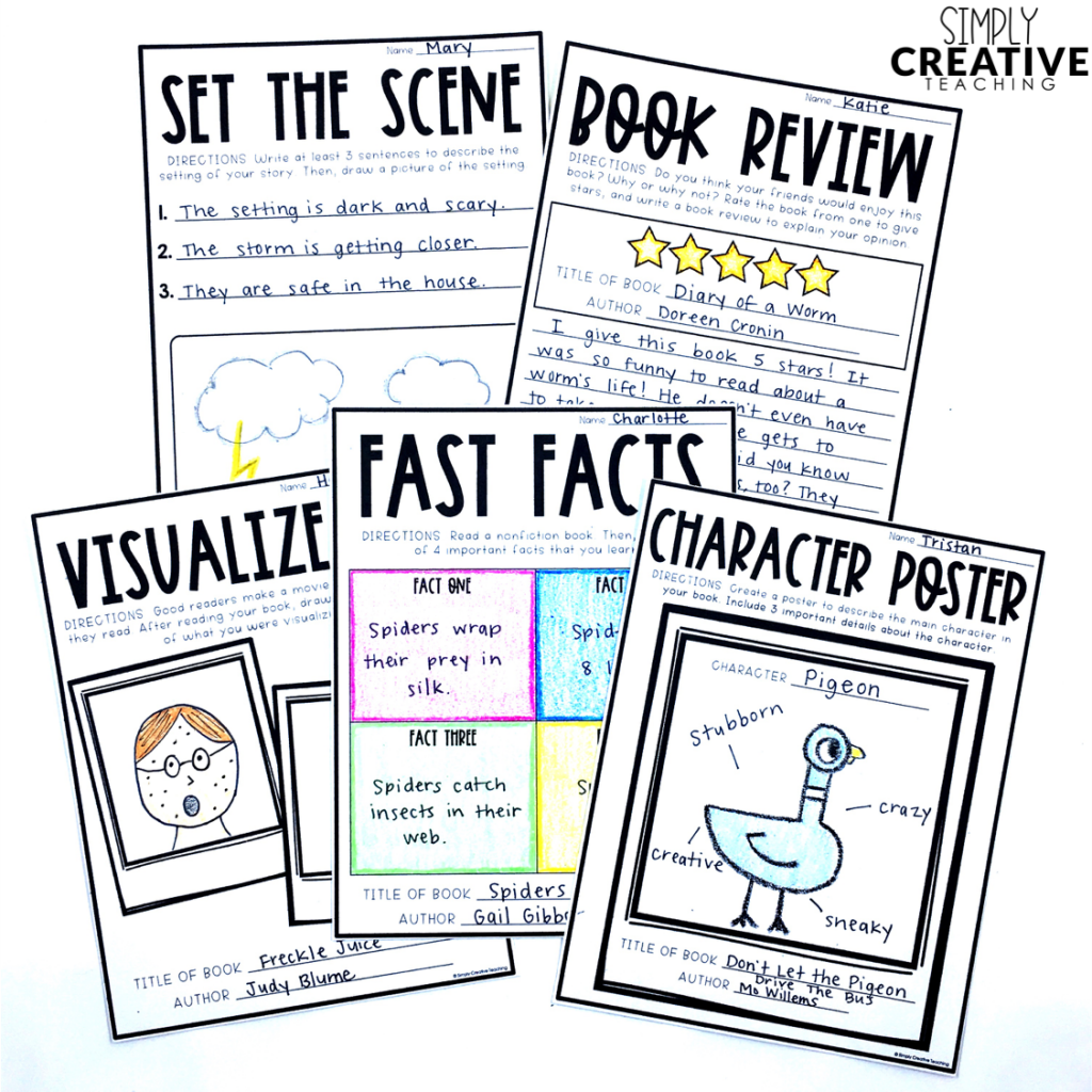These are graphic organizers to use in reading journals or notebooks.