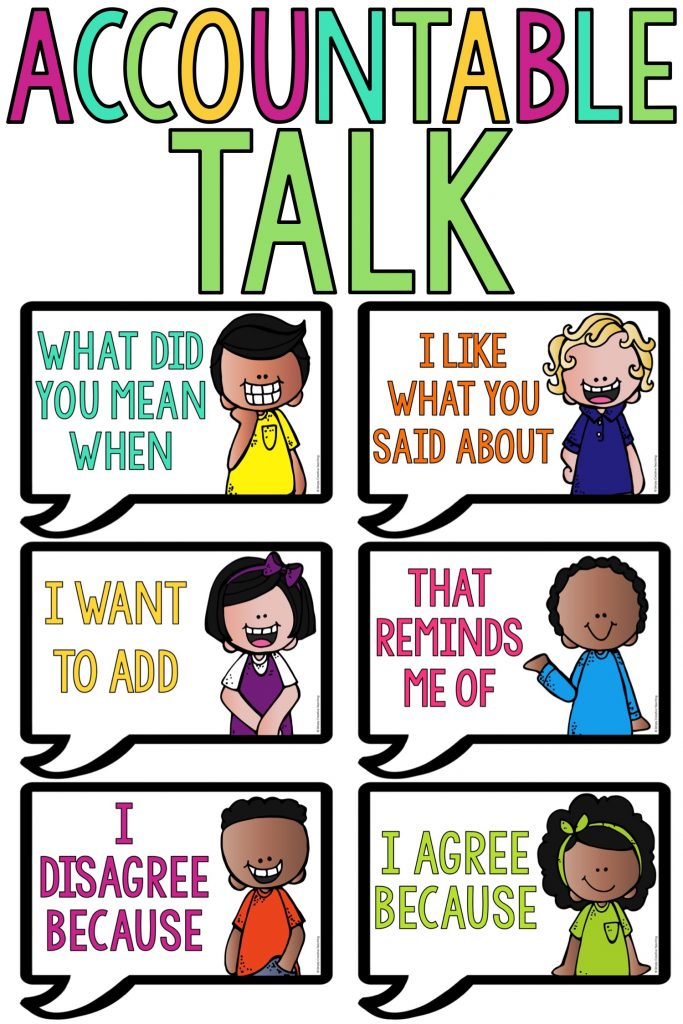 Accountable talk sentence starters