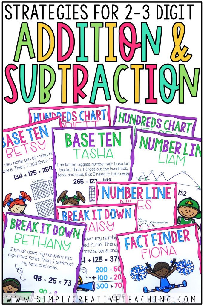 Strategies for 2-3 digit addition and subtraction