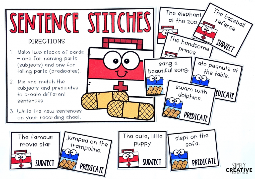 This is a center called Sentence Stitches.