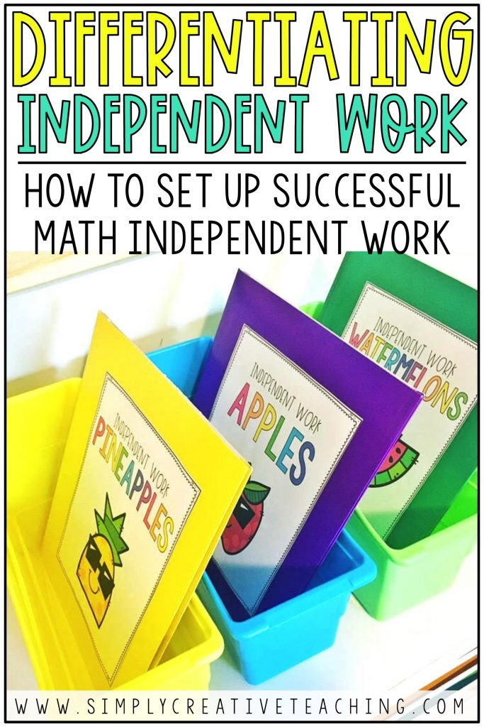 This is a graphic for how to set up successful math independent activities.