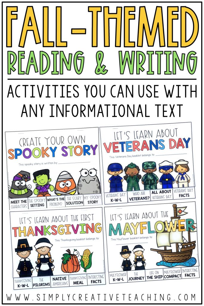 Fall reading and writing activities you can use with any informational text.