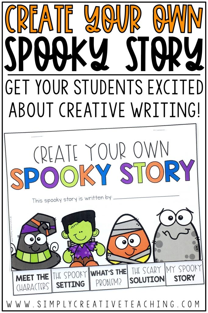 This is a graphic about creating your own spooky story.
