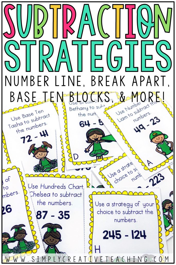 This is a graphic for subtraction strategies.