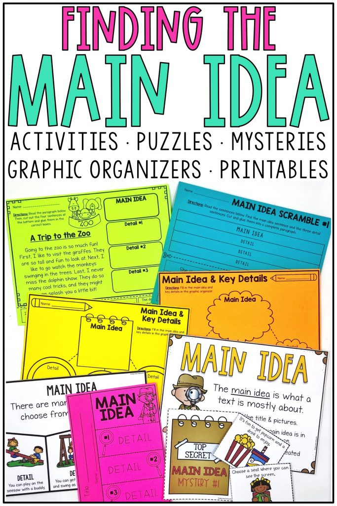Finding the Main Idea graphic