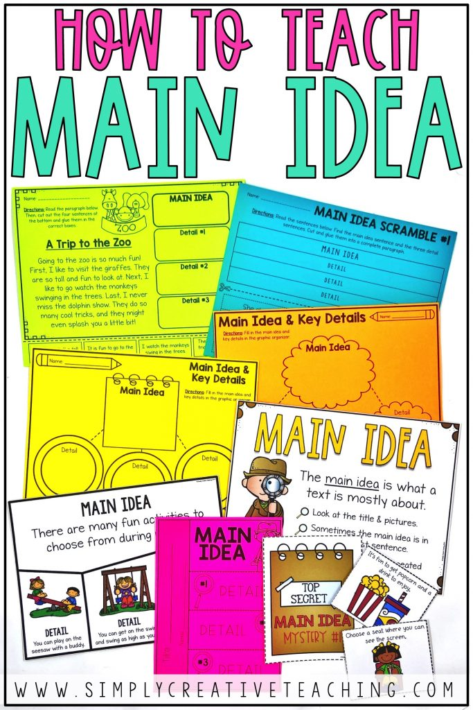 How to Teach Main Idea