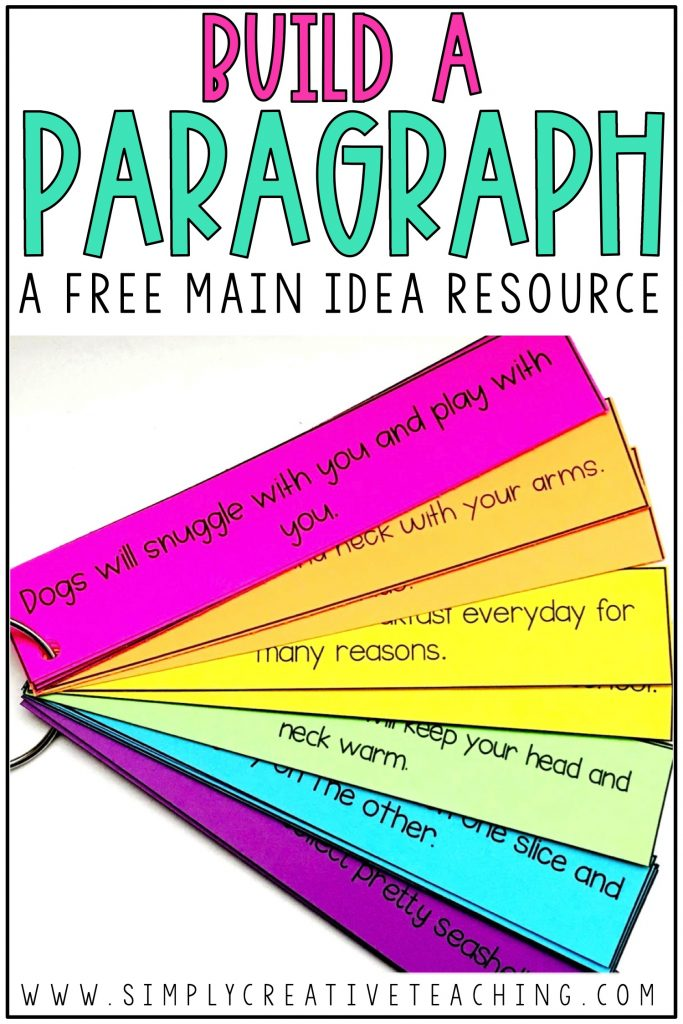 Build a Paragraph free main idea resource