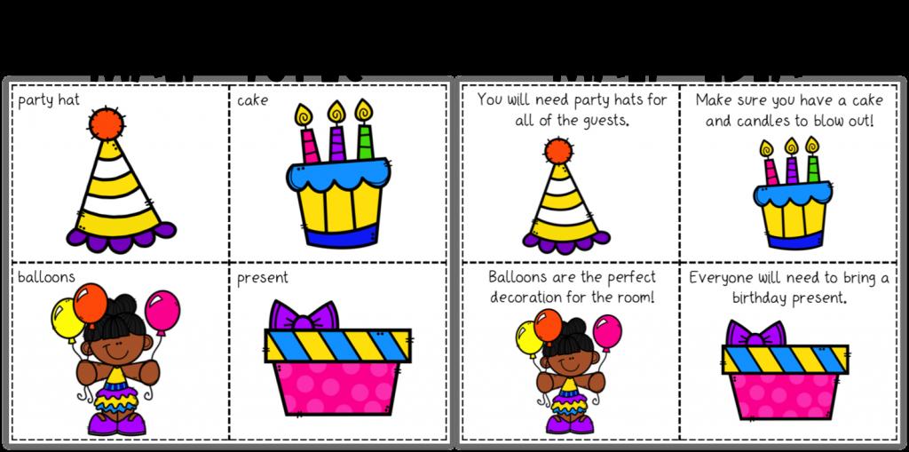 Main idea and main topic mystery bag clue cards