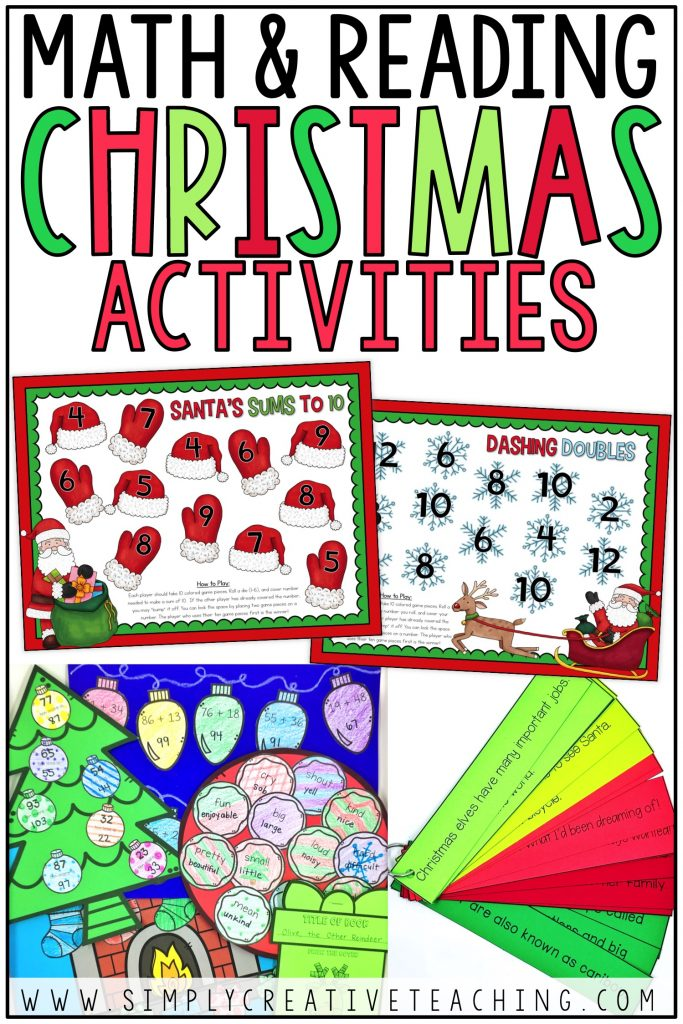 Math and Reading Christmas Activities