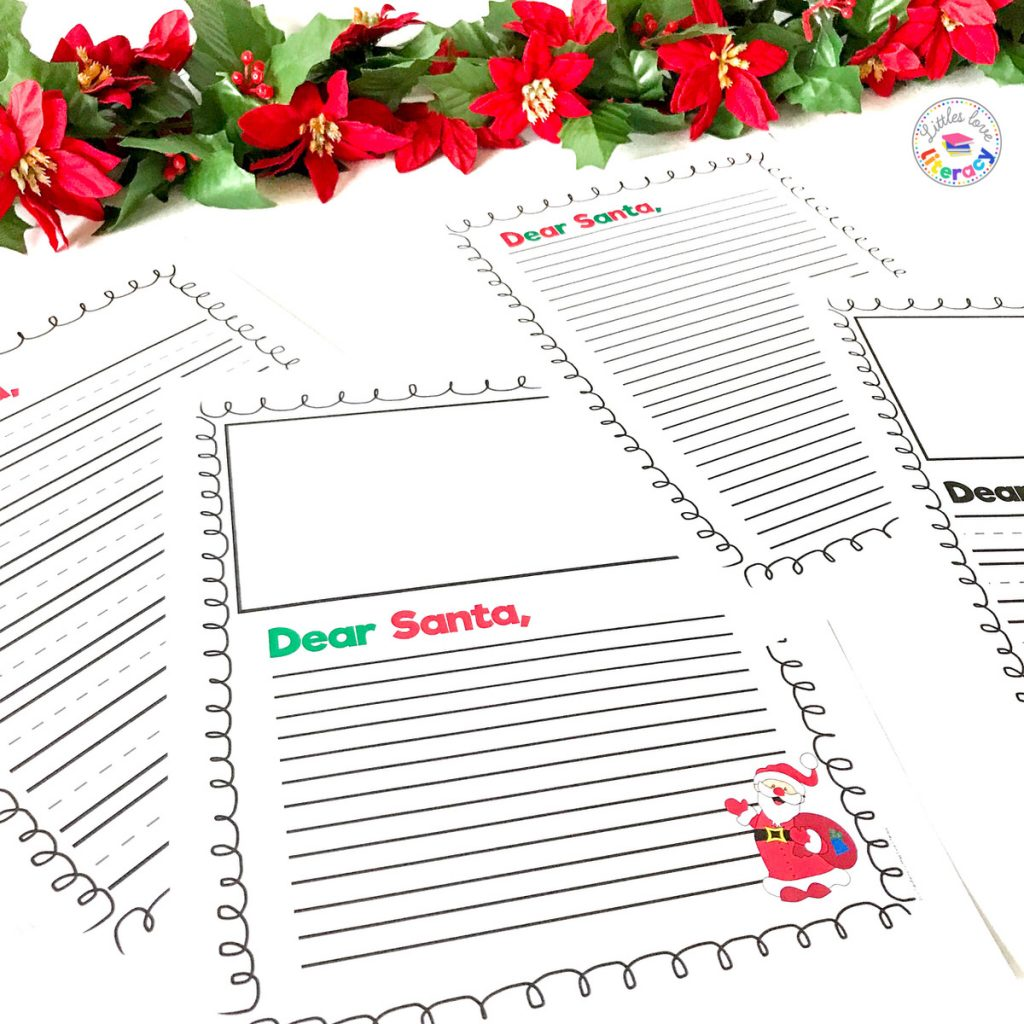 Free December Activities: Dear Santa writing paper