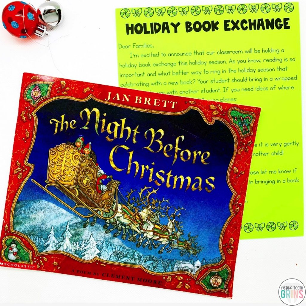 Holiday Book Exchange template