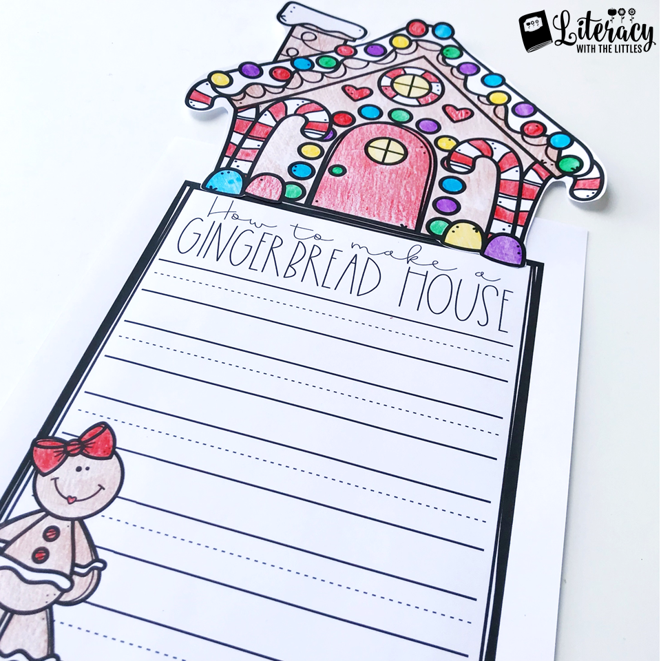 Free December Activities: How to Make a Gingerbread House writing paper