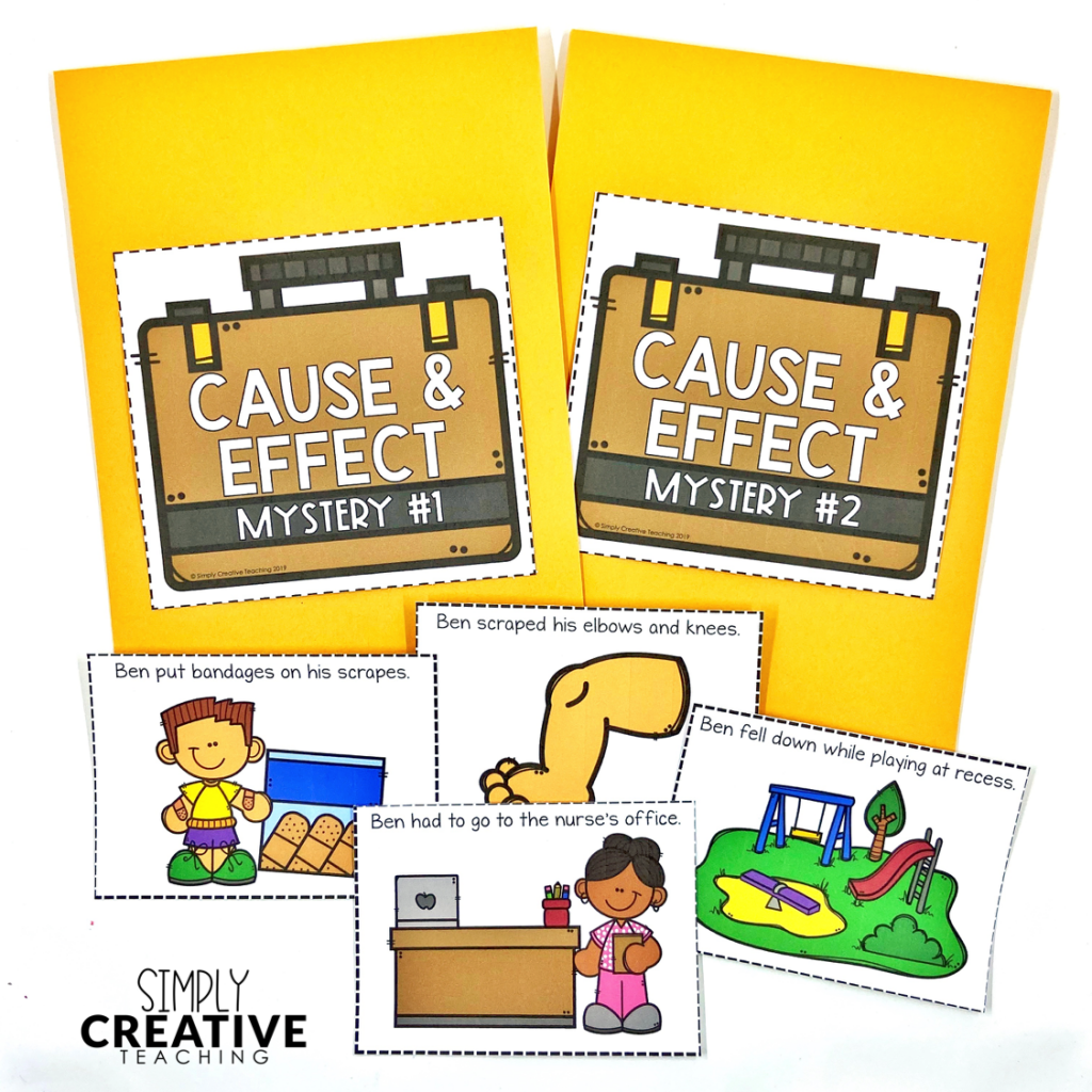 These are cause and effect activities including mysteries for students.