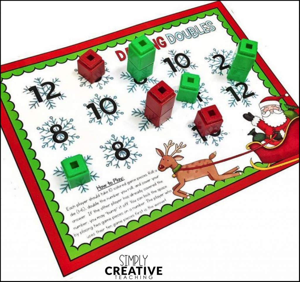 Free December Activities: Christmas Math Board Games