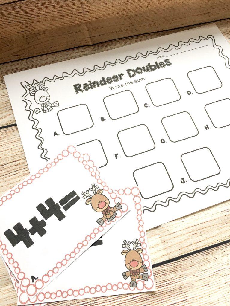 Reindeer math center