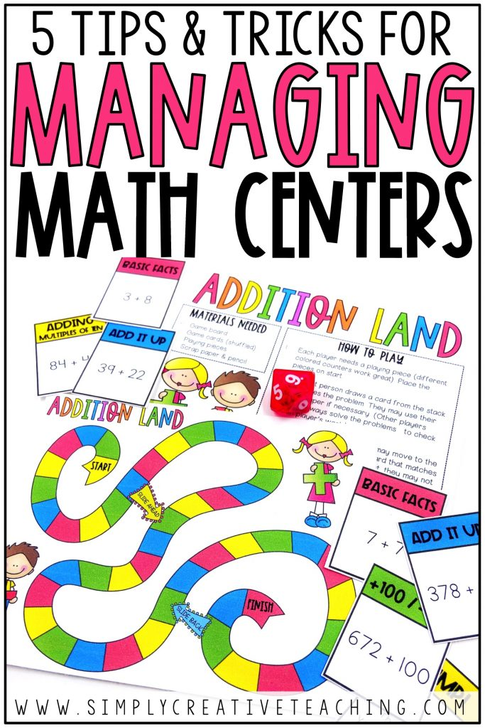 5 Tips & Tricks for Managing Math Centers