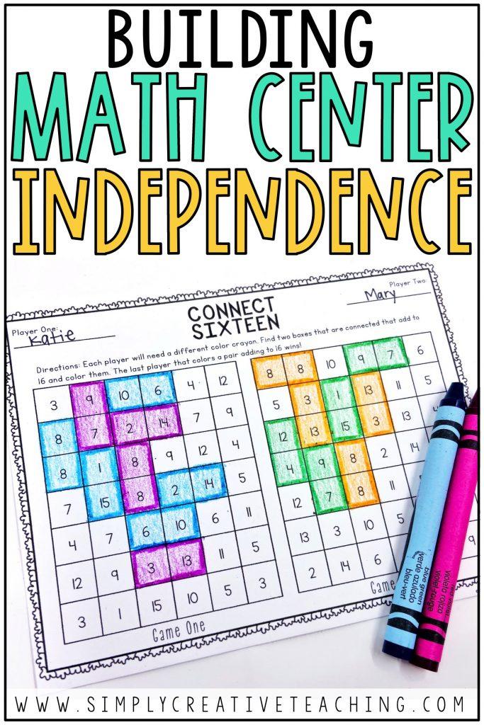 Building Math Center Independence
