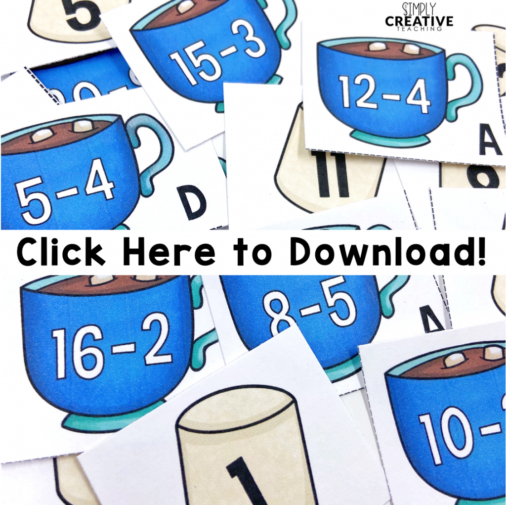 Click here to download your free winter math activities.