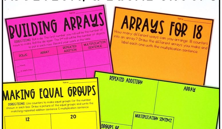 Introducing Multiplication Activities & Ideas