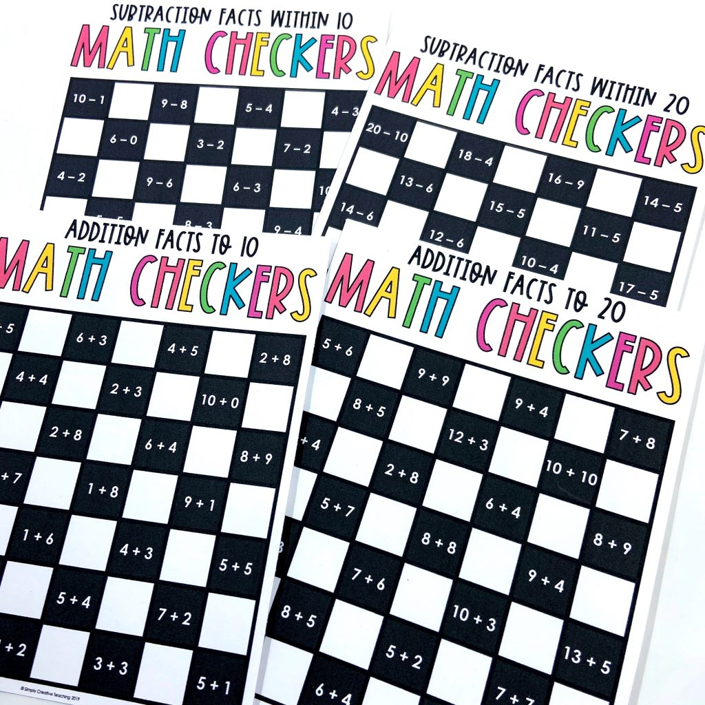 math checkers board games