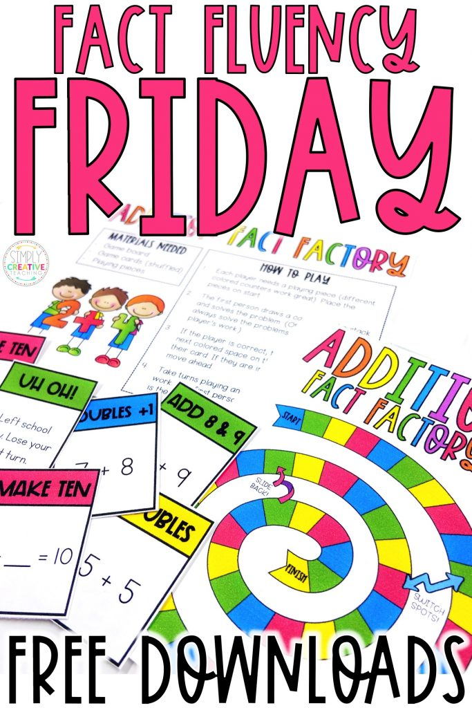 Fact Fluency Friday image to save