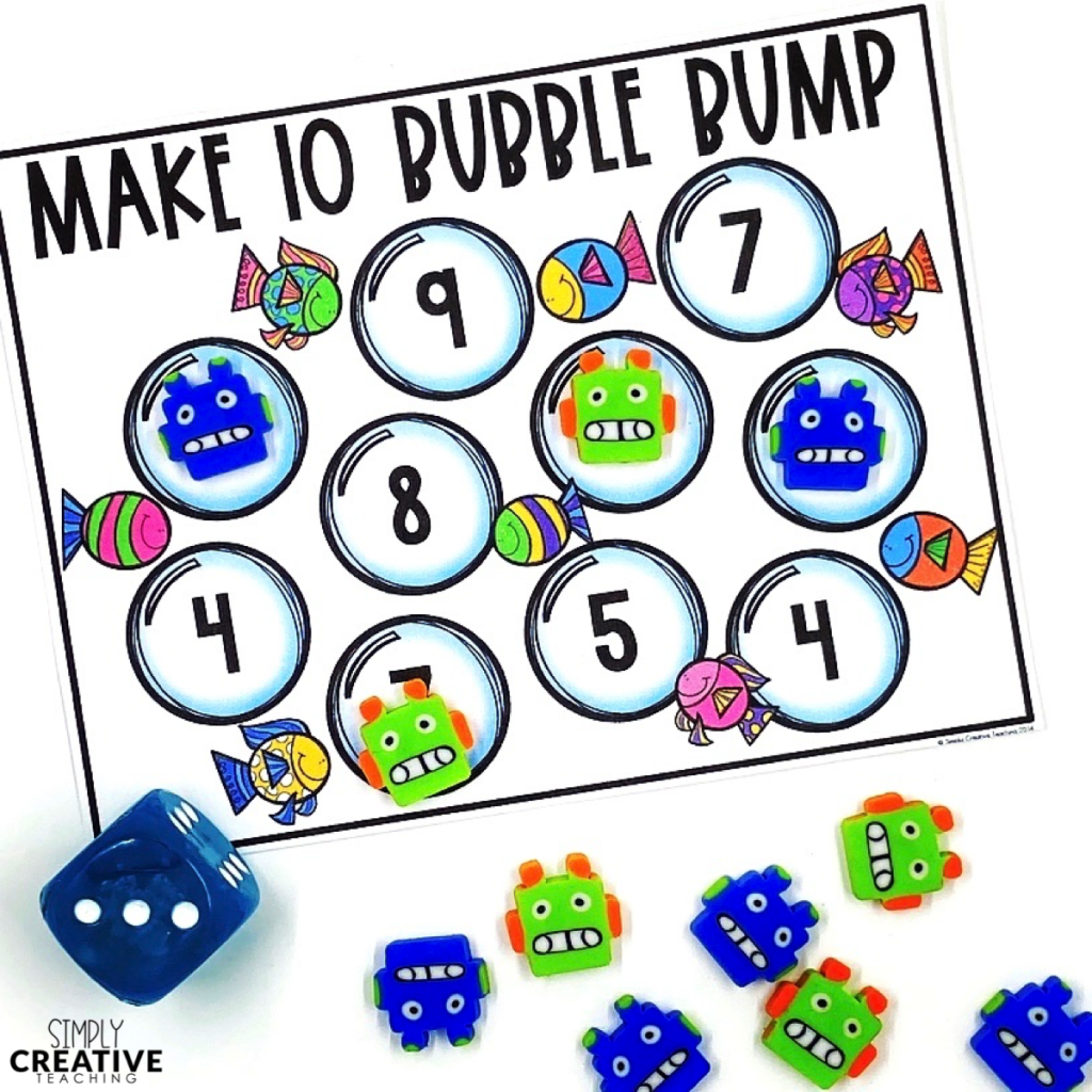 Ways to make 10 fact fluency Friday board game