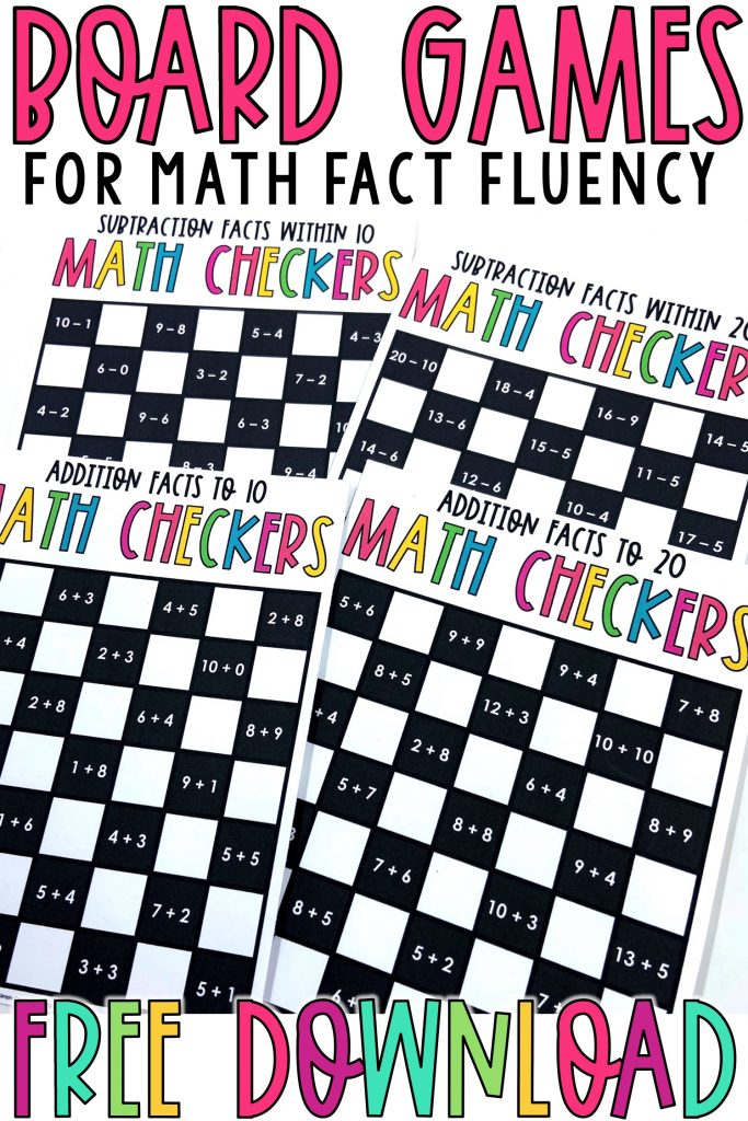 Download these free checkers board games to play with your students.