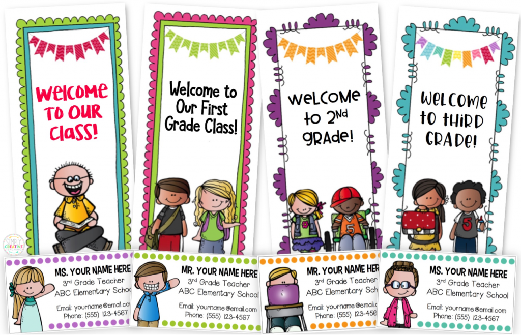 Back to school brochures and teacher contact magnets