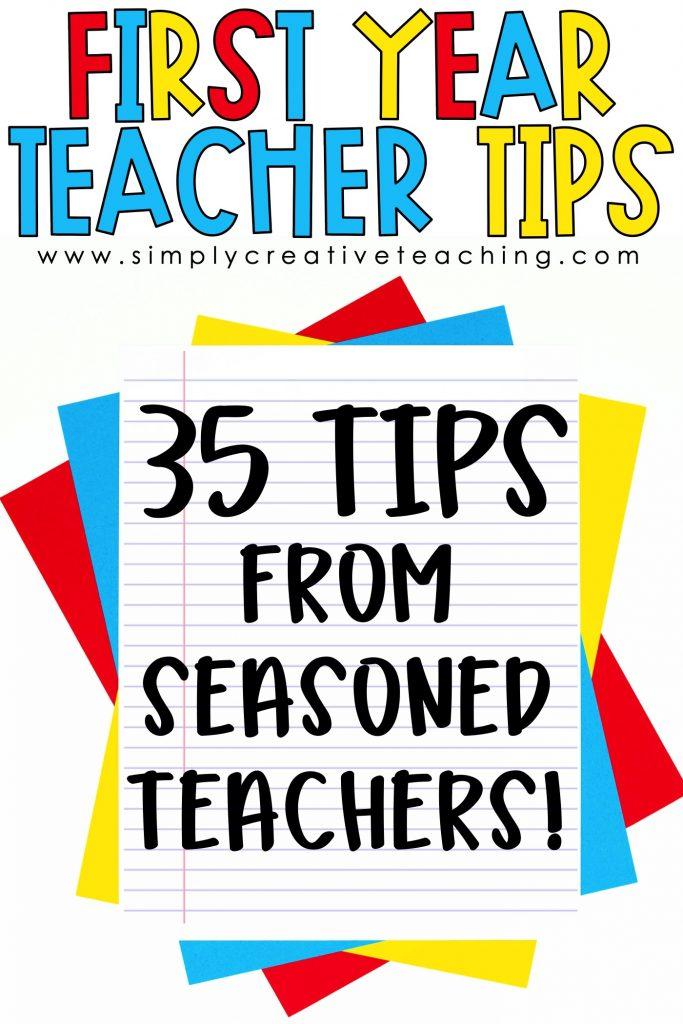 First Year teacher tips from seasoned teachers