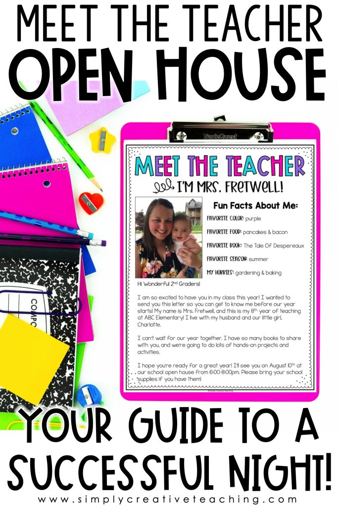How to have a successful meet the teacher night and open house.