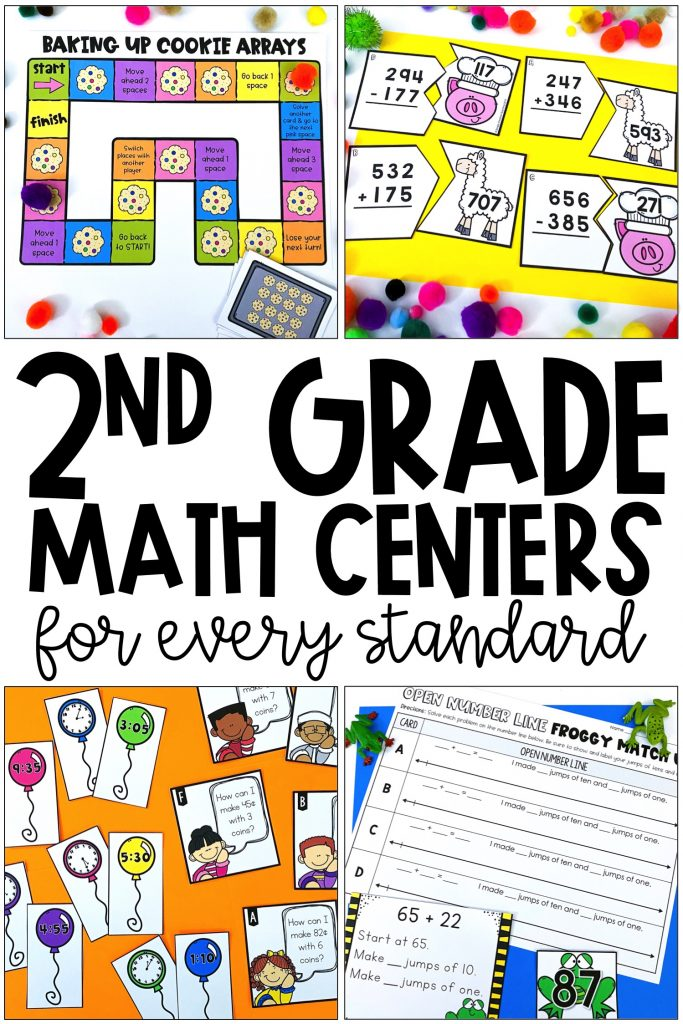 2nd Grade Math Centers For Common Core - Simply Creative Teaching