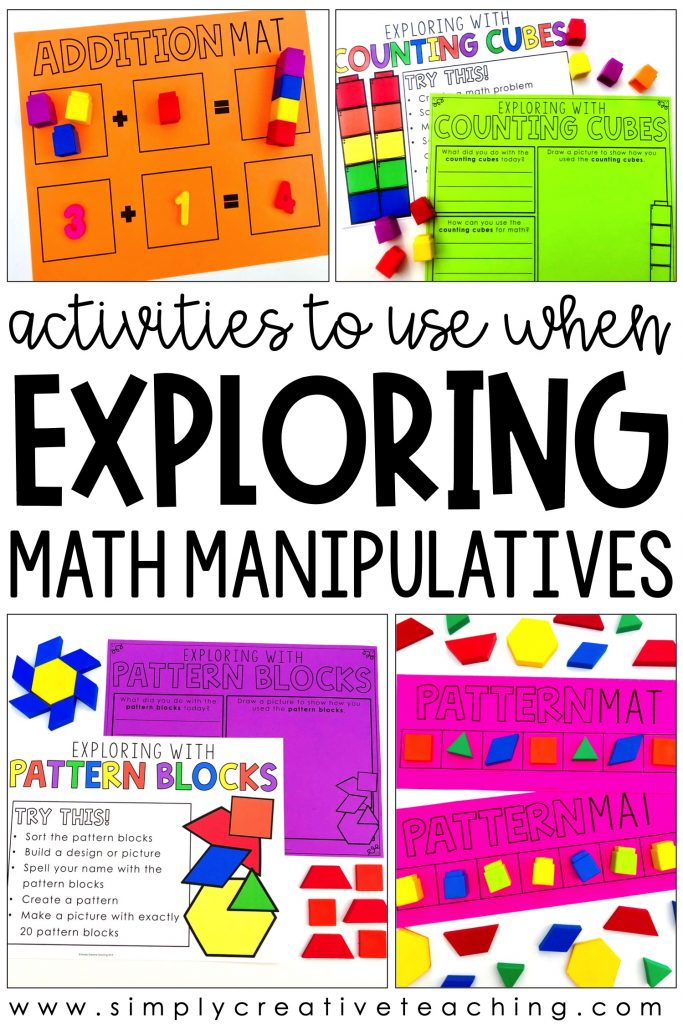 Activities to use for exploring math manipulatives