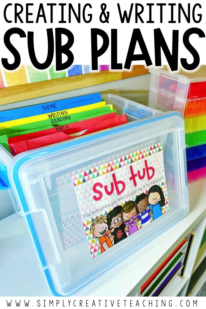 Substitute plans and sub tub