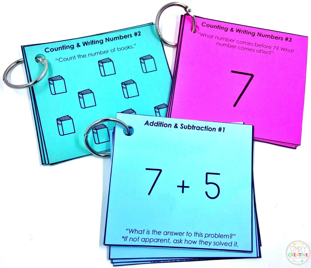 Math assessment rings