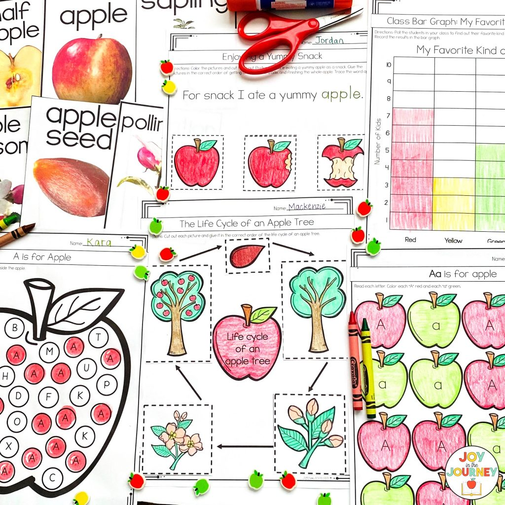 print and go apple activities